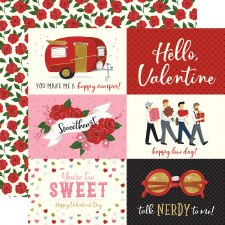 Be My Valentine 12x12 Paper- 6x4 Cards