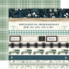 Home Again 12x12 Paper- Border Strips