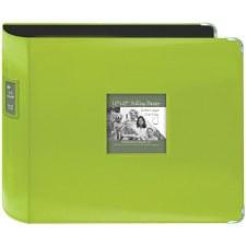 Pioneer 12x12 3 Ring Binder Album- Leatherette, Bright Green