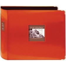 Pioneer 12x12 3 Ring Binder Album- Leatherette, Bright Orange