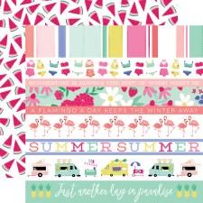 Best Summer Ever 12x12 Paper- Border Strips