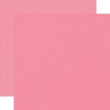 Dots 12x12 Paper- Bubblegum Pink