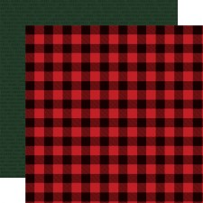 Christmas Market 12x12 Paper- Buffalo Plaid