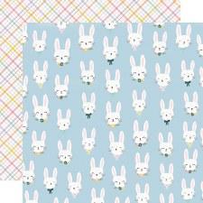 Bunnies + Blooms 12x12 Paper- Bunny Love