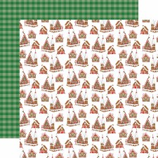 Christmas Cheer 12x12 Paper- Candy Cane Lane