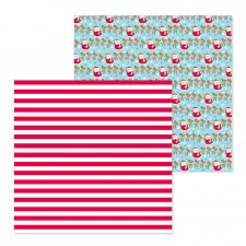 Christmas Town 12x12 Paper- Candy Cane Lane