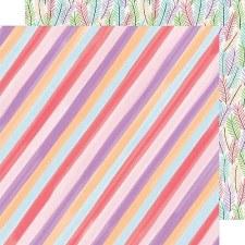 Amy Tangerine Stay Sweet 12x12 Paper- Candy Stripe