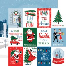 Merry Christmas 12x12 Paper- 3x4 Cards
