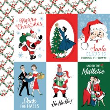 Merry Christmas 12x12 Paper- 4x6 Cards