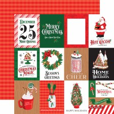 Christmas Cheer 12x12 Paper- 3x4 Cards