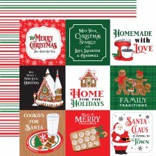 Christmas Cheer 12x12 Paper- 4x4 Cards