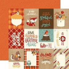 Celebrate Autumn 12x12 Paper- 3x4 Cards