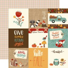 Celebrate Autumn 12x12 Paper- 4x4 Cards