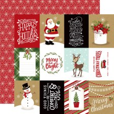 Celebrate Christmas 12x12 Paper- 3x4 Journaling Cards
