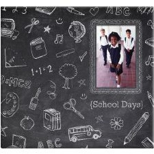 MBI 12x12 Postbound Scrapbook- Chalkboard School Days