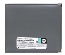 We R Memory Keepers 12x12 Classic Leather 3-Ring Binder- Charcoal