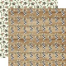 Christmas 12x12 Paper- Cheery Stockings