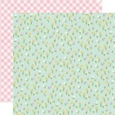 Bunnies + Blooms 12x12 Paper- Choose Happy