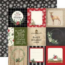 Christmas 12x12 Paper- 4x4 Journaling Cards
