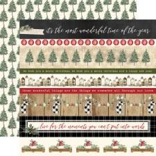 Christmas 12x12 Paper- Border Strips