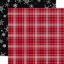 Christmas Market 12x12 Paper- Christmas Plaid