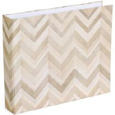 American Crafts 12x12 D-Ring Album- Close Knit Wood Chevron