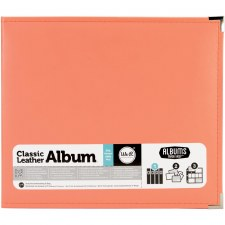 We R Memory Keepers 12x12 Classic Leather 3-Ring Album- Coral