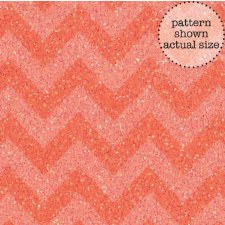 Doodlebug 12x12 Sugar Coated Chevron Cardstock- Coral