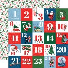 Merry Christmas 12x12 Paper- Countdown to Christmas