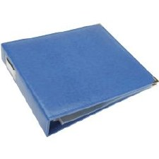 We R Memory Keepers 12x12 Classic Leather 3-Ring Binder- Country Blue