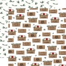 Farmhouse Christmas 12x12 Paper- Crates