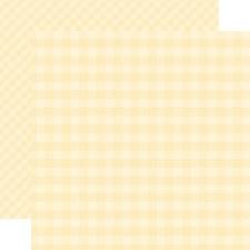 Autumn Gingham 12x12 Paper- Cream