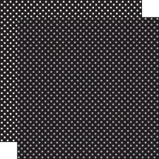 Dots & Stripes 12x12 Paper- Black