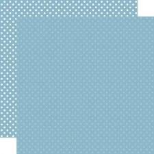 Dots & Stripes 12x12 Paper- Blue