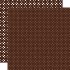 Dots & Stripes 12x12 Paper- Brown