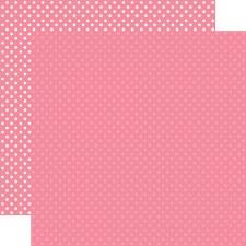 Dots & Stripes 12x12 Paper- Bubblegum Pink