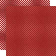 Dots & Stripes 12x12 Paper- Burgundy