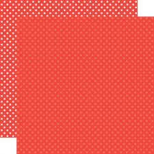 Dots & Stripes 12x12 Paper- Cherry Red