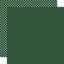 Dots & Stripes 12x12 Paper- Evergreen