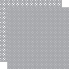 Dots & Stripes 12x12 Paper- Grey