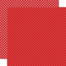 Dots & Stripes 12x12 Paper- Red