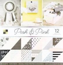 12x12 DCWV Paper Stack- Posh & Pink