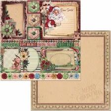 Christmas Treasures 12x12 Paper- Dear Santa