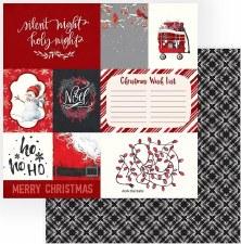 Celebrate Christmas 12x12 Paper- Deck the Halls