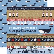 Deep Blue Sea 12x12 Paper- Borders