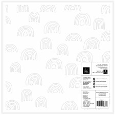 Heidi Swapp Care Free 12x12 Die Cut Paper- Rainbows