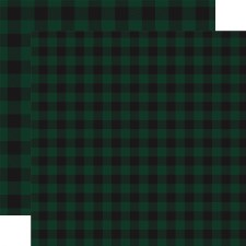 Buffalo Plaid 12x12 Paper- Dark Green