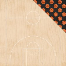 Basketball 12x12 Paper- Double Dribble