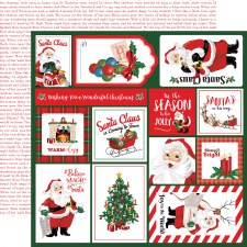 Dear Santa 12x12 Paper- Multi Cards