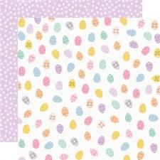Bunnies + Blooms 12x12 Paper- Egg Hunt